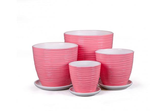 Горшок Спираль розовый крокус - интернет-магазин Крассула