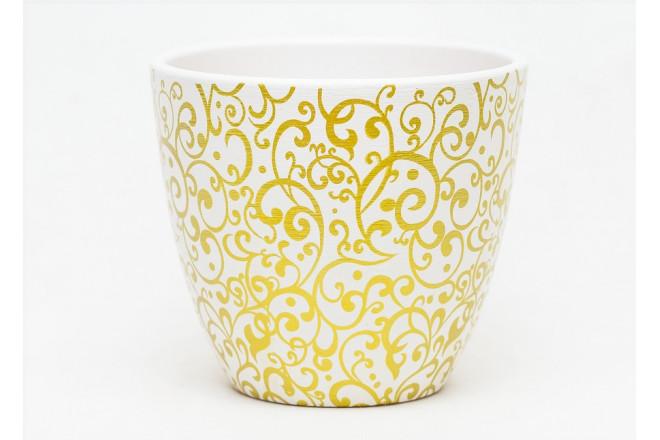 Горшок Скань белый крокус - интернет-магазин Крассула