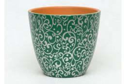 Горшок Скань зеленый крокус