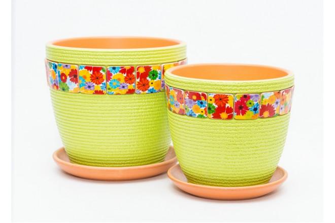 Горшок Венок зеленый бутон - интернет-магазин Крассула
