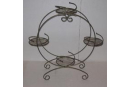 Подставка Напольная Барабан на 4 горшка - интернет-магазин Крассула