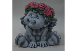 Фигура Ангел сидящий под камень - интернет-магазин Крассула