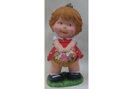 Фигура Девочка с цветами - интернет-магазин Крассула
