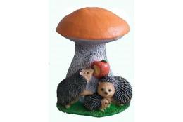 Фигура Гриб подосиновик с ежами и яблоком средний - интернет-магазин Крассула