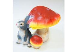 Фигура Гриб поганка с зайчиком - интернет-магазин Крассула