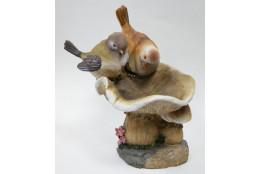 Фигура Гриб с птичками - интернет-магазин Крассула