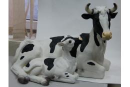 Фигура Корова с телёнком - интернет-магазин Крассула