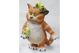 Фигура Кот с птичками - интернет-магазин Крассула