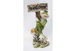 Фигура Лягушка с грибом *Велком* - интернет-магазин Крассула