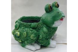 Фигура Лягушка жаба сидящая кашпо большое