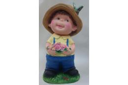 Фигура Мальчик с цветами - интернет-магазин Крассула