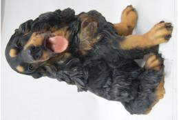 Фигура Собака русский спаниэль сидящий - интернет-магазин Крассула