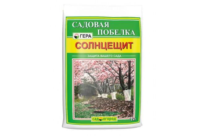 ГЕРА Солнцещит садовая побелка (сухая) 1кг - интернет-магазин Крассула