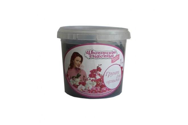 Грунт Цветочное счастье Орхидея 1л - интернет-магазин Крассула