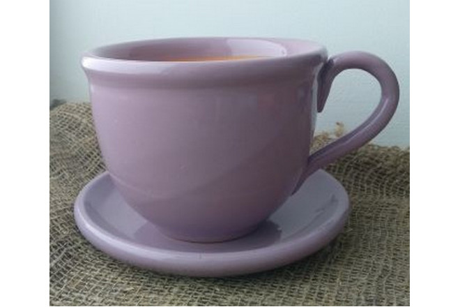 Горшок цветочный Чашка с блюдцем - интернет-магазин Крассула