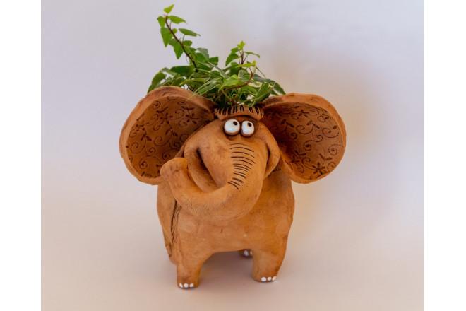 Кашпо цветочное Слон - интернет-магазин Крассула