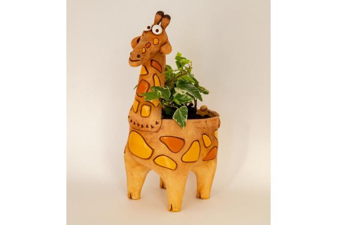 Кашпо цветочное Жираф - интернет-магазин Крассула