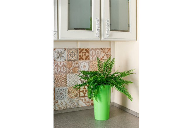 Кашпо для цветов со вставкой Камелия - интернет-магазин Крассула