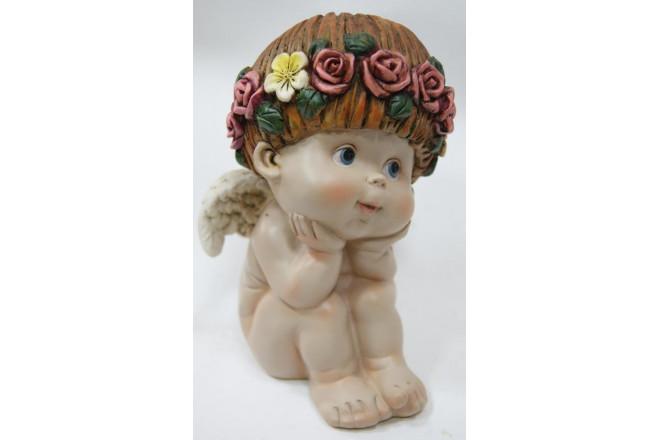 Фигура Ангел Прелесть 4 сидящий - интернет-магазин Крассула