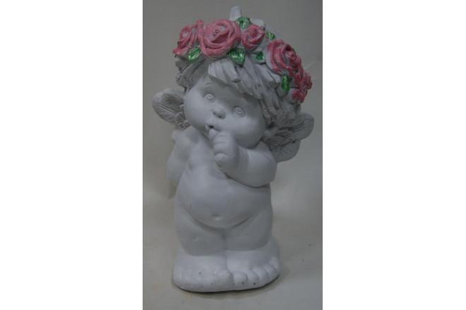Фигура Ангел с пальчиком во рту - интернет-магазин Крассула