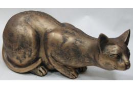 Фигура Кошка лежащая(бронза) - интернет-магазин Крассула