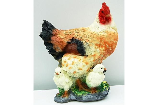 Фигура Курица кубанская с цыплятами - интернет-магазин Крассула