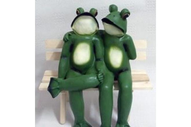Фигура Лягушка пара большая на лавке - интернет-магазин Крассула