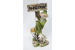Фигура Лягушка с грибом *Велком*