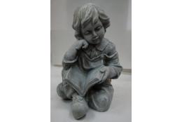 Фигура Мальчик с книгой (под камень)