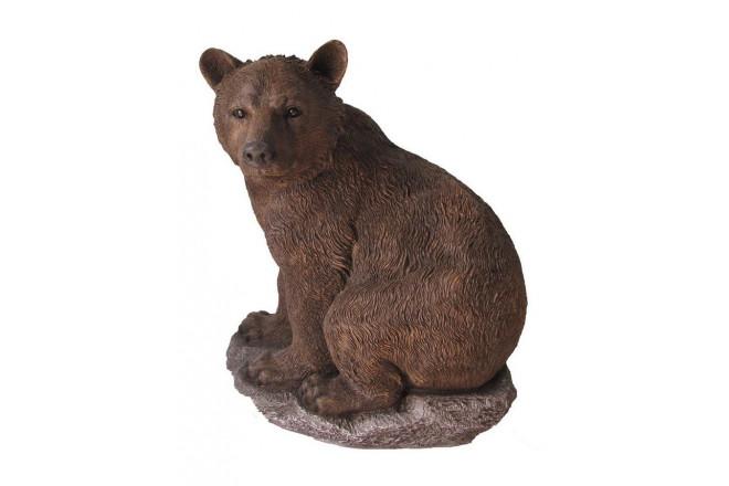 Фигура Медведь на камне - интернет-магазин Крассула