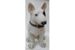 Фигура Собака бультерьер с ошейником