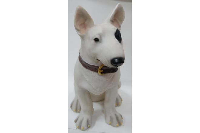 Фигура Собака бультерьер с ошейником - интернет-магазин Крассула