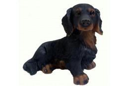 Фигура Собака  Такса большая черная