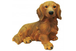 Фигура Собака  Такса большая рыжая