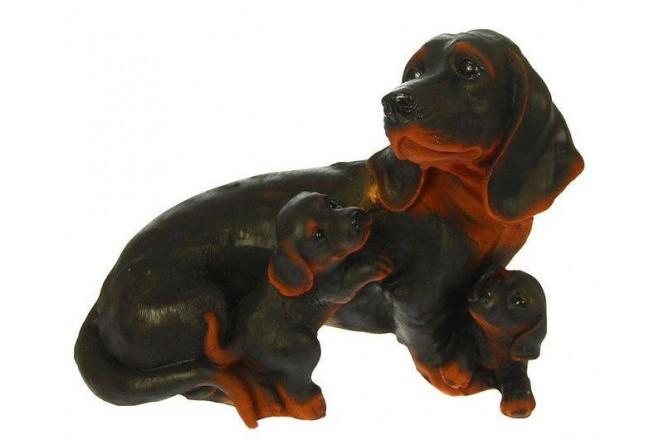 Фигура Собака Такса семья - интернет-магазин Крассула