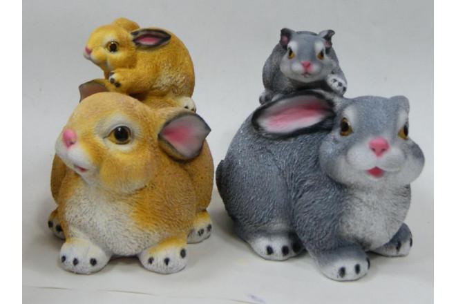 Фигура Зайчик с зайчонком на спине - интернет-магазин Крассула