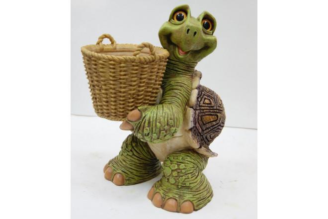 Фигура Зоокашпо Черепаха с корзиной - интернет-магазин Крассула