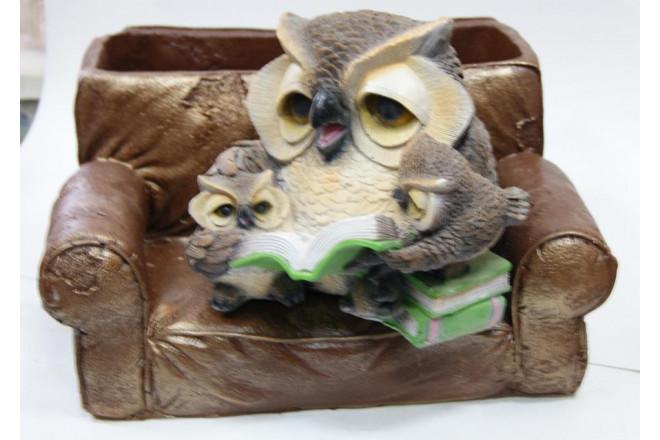 Фигура Зоокашпо *Совы в кресле с книжкой* - интернет-магазин Крассула
