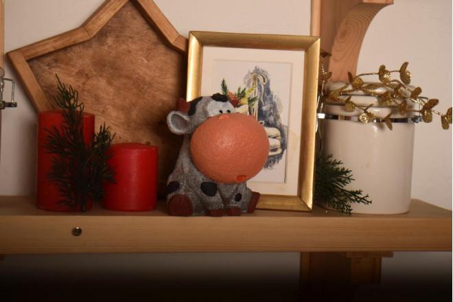 Фигура Новогодний бычок Гриша - интернет-магазин Крассула