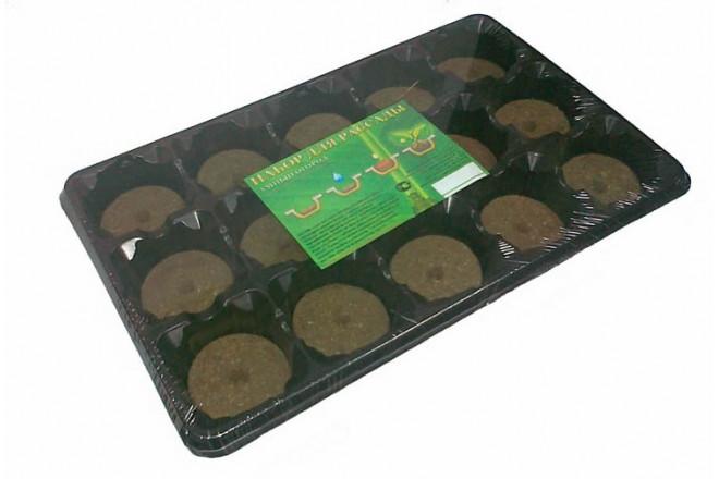Набор для рассады с торфяными таблетками - интернет-магазин Крассула