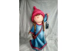 Садовая фигура Девочка Саша (подвесной фонарик)