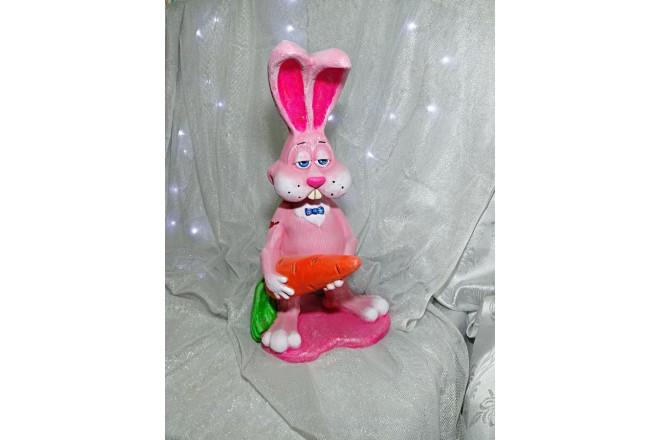 Фигура Розовый кролик Валентин - интернет-магазин Крассула