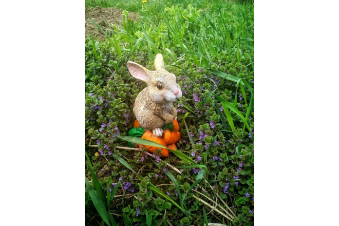 Садовая фигура Кролик Мини на морковке - интернет-магазин Крассула