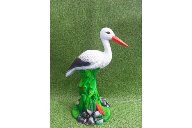 Садовая фигура Аист в траве - интернет-магазин Крассула