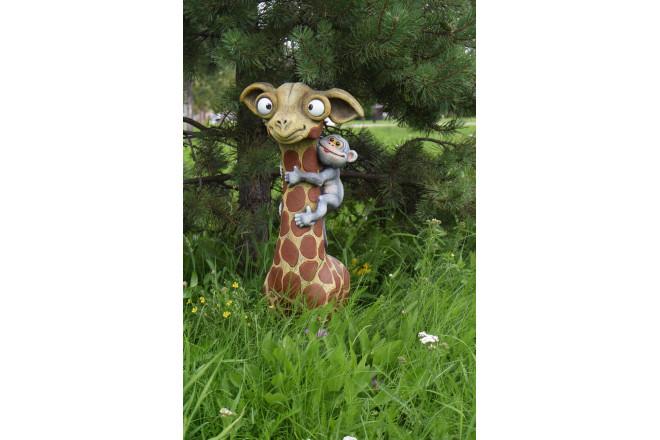 Фигура Жираф с обезьянкой - интернет-магазин Крассула