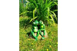 Садовая фигура Лягушки на лодке