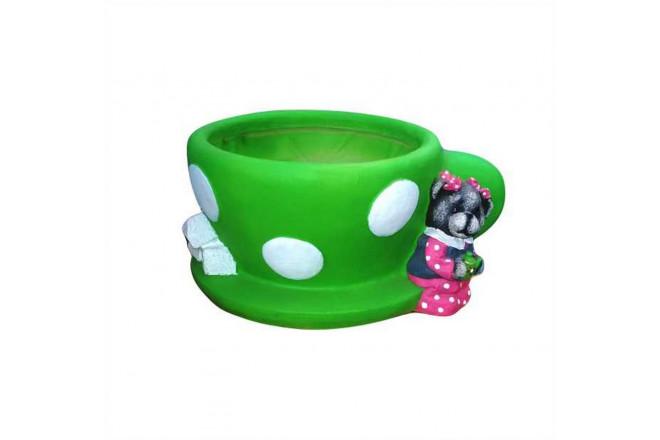 Зоокашпо Чашка с мишкой  - интернет-магазин Крассула