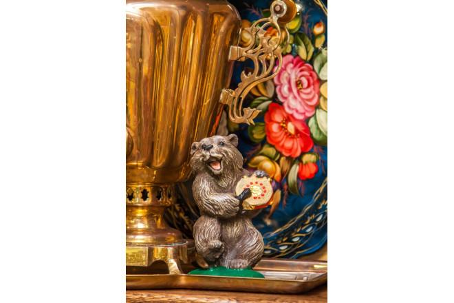 Фигура Медведь с бубном - интернет-магазин Крассула