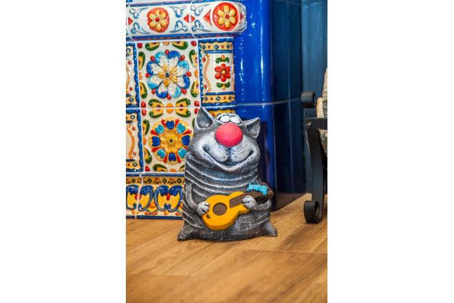 Фигура Кот с гитарой - интернет-магазин Крассула