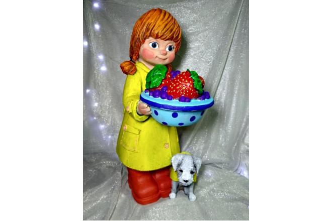 Фигура Девочка с собачкой - интернет-магазин Крассула